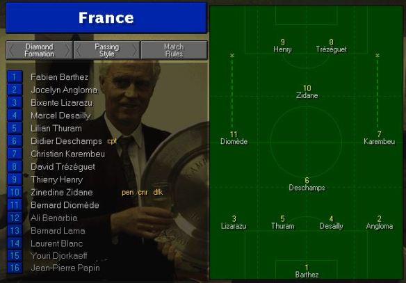 France Tactics vs Holland