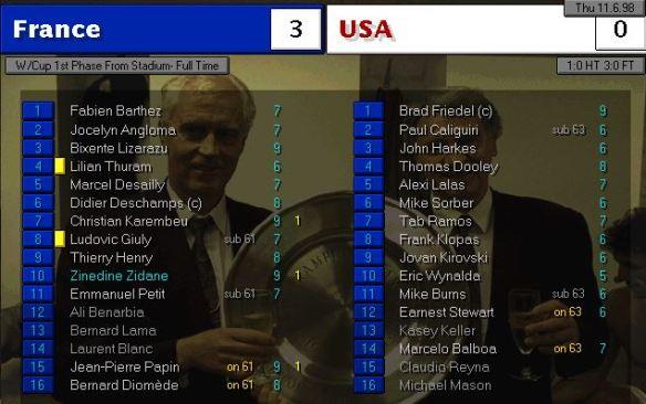 France vs USA FT ratings