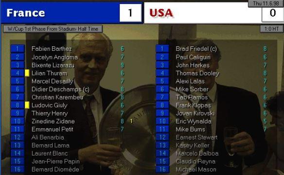 France vs USA HT ratings