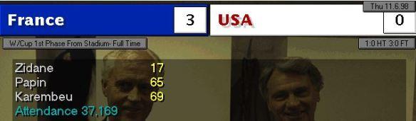 france vs USA scoreboard