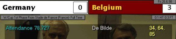 germany 0 - 3 belgium