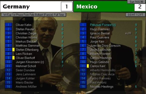 germany 1 - 2 mexico ratings