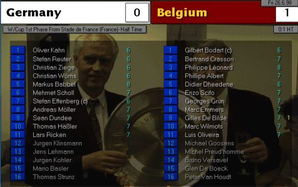 germany belgium HT ratings