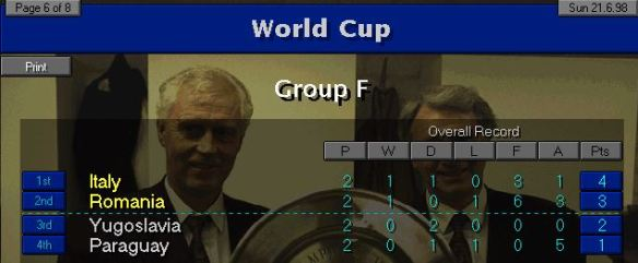 Group F 2 games