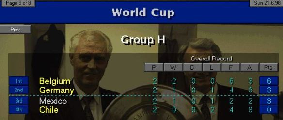 Group H 2 games