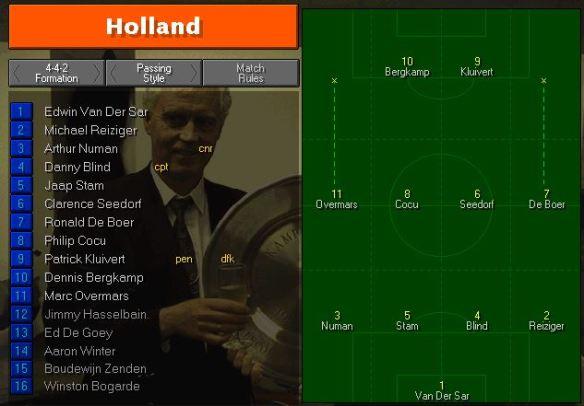 Holland tactics vs Colombia