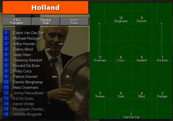 holland tactics vs Eire