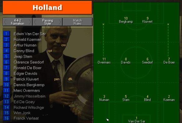 holland tactics vs france
