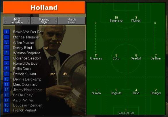 Holland Tactics vs Romania
