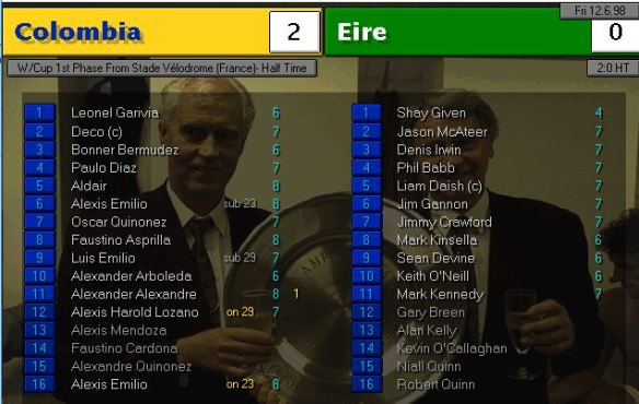 Ireland Colombia HT ratings