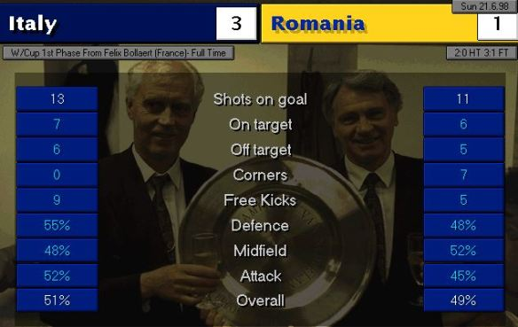 italy romania FT stats