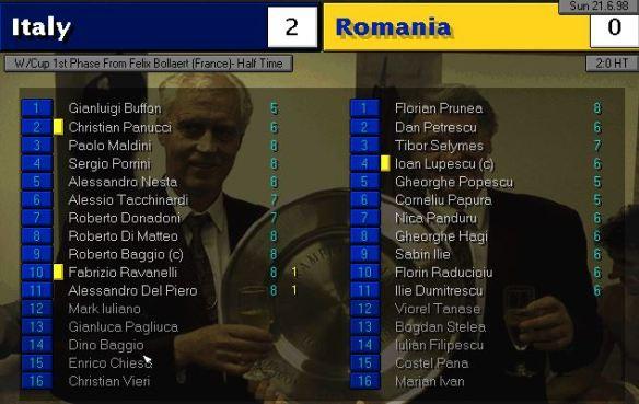 italy romania HT ratings