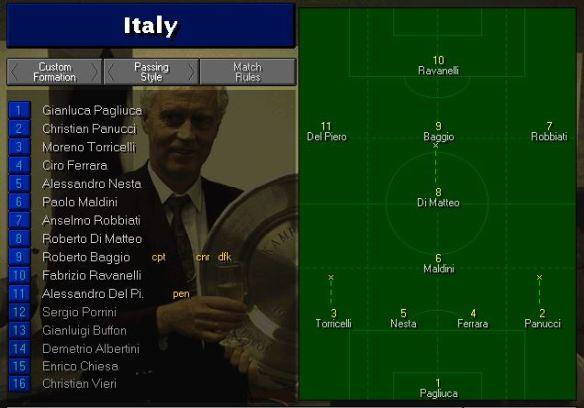 Italy tactics vs belgium