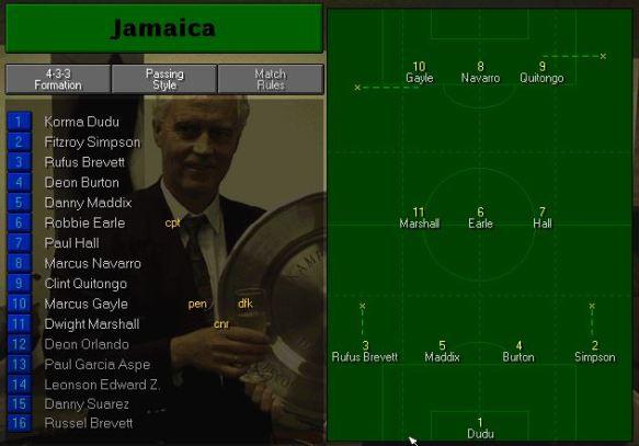 Jamaica tactics vs scotland