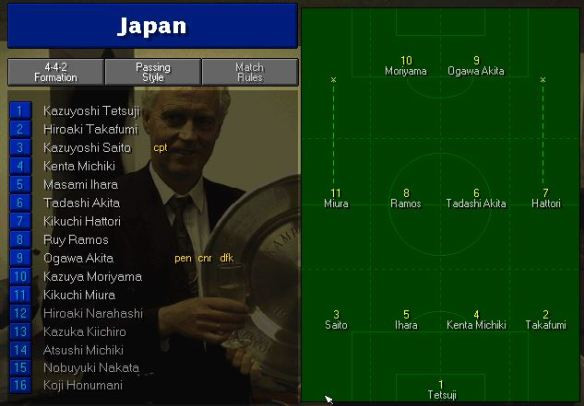Japan tactics vs England