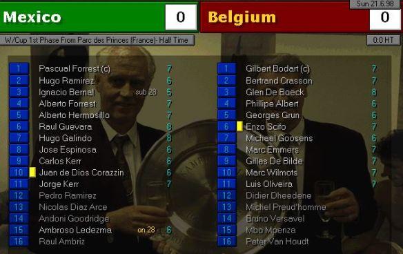 mexico belgium HT stats