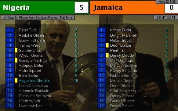 nigeria jamaica FT ratings