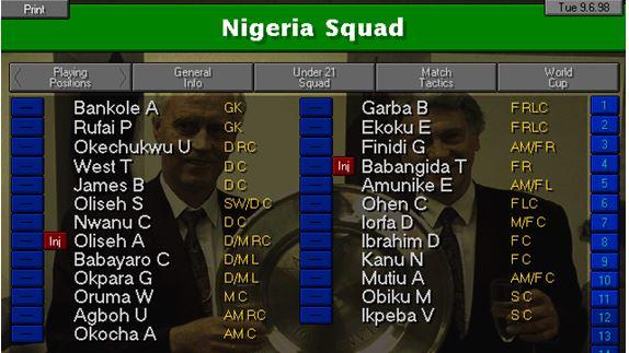 nigeria squad