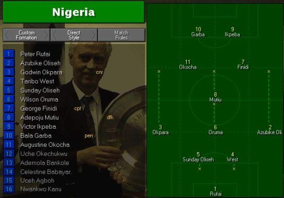 Nigeria tactics vs jamaica