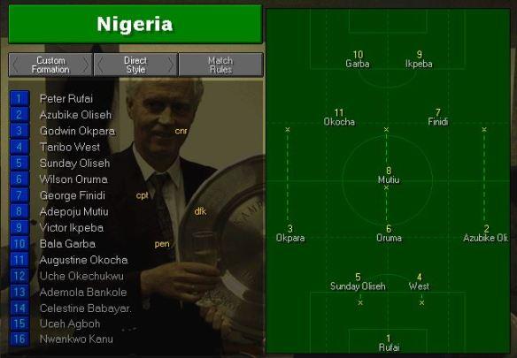 Nigeria Tactics vs Russia