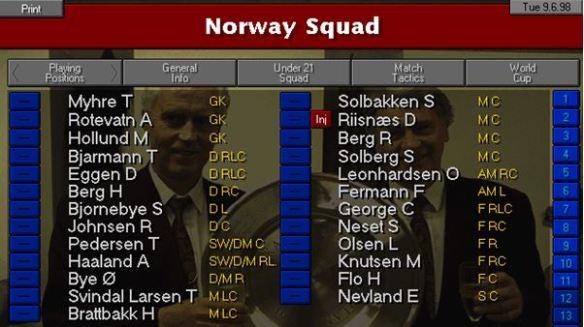 norway squad