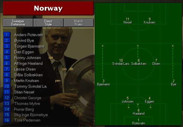 Norway team vs Brazil