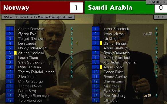 norway vs saudi arabia HT ratings