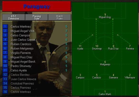 paraguay tactics vs romania