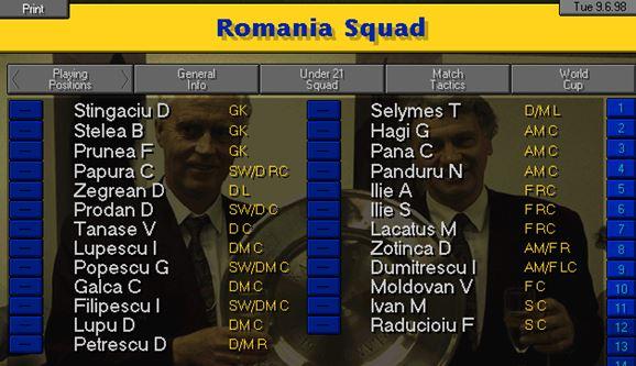 Romania squad