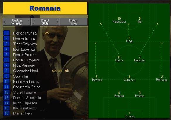 Romania tactics vs Holland