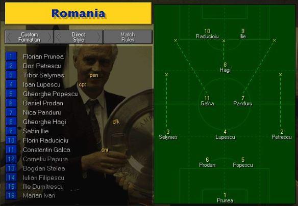 Romania tactics vs Paraguay