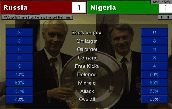 Russia Nigeria HT stats