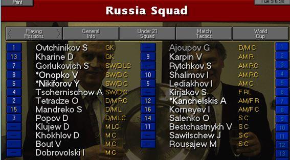 russia squad