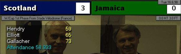 scotland 3 - 0 jamaica