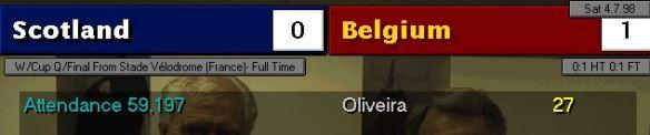 scotland belgium scoreboard