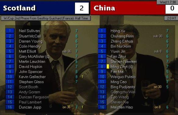 scotland china HT ratings