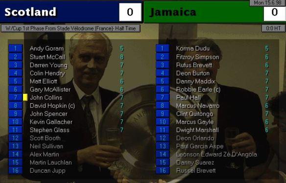 scotland jamaica HT ratings