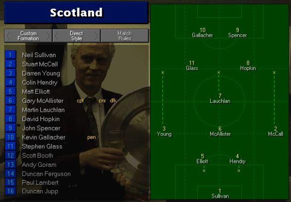 Scotland tactics vs China