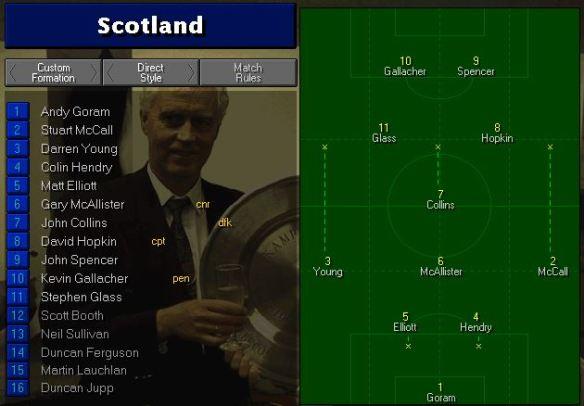 scotland tactics vs russia