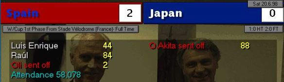 spain 2 - 0 japan