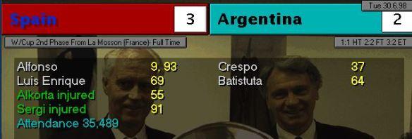 spain 3 - 2 argentina