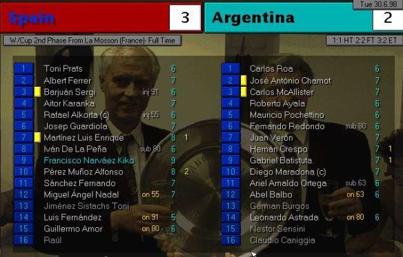 spain argentina AET ratings