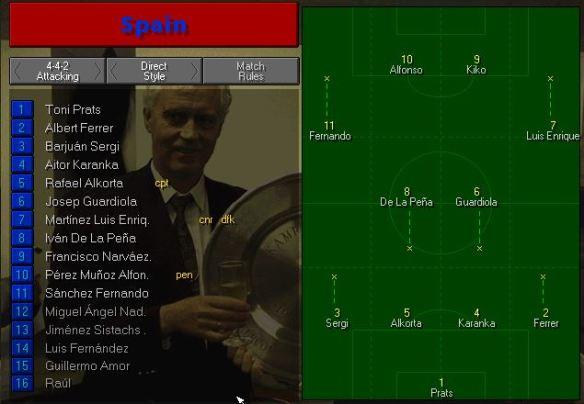 Spain tactics vs Argies