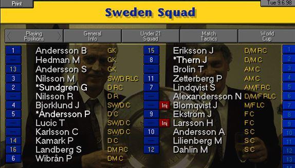 sweden squad