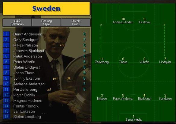 sweden team vs spain