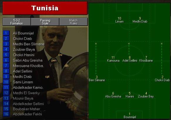 Tunisia tactics vs England
