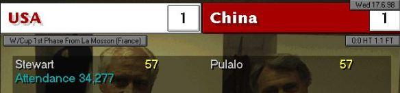 USA 1 - 1 China