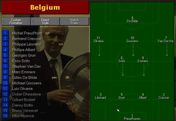 Belgium tactics