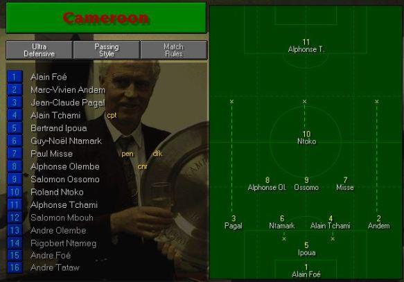 cameroon tactics vs spain