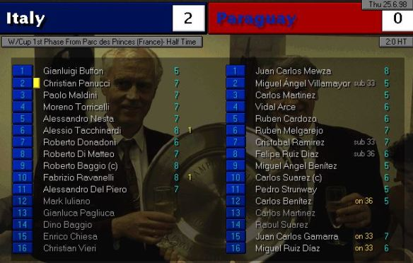 italy paraguay HT ratings